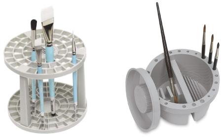 Portapennelli in plastica con separatori