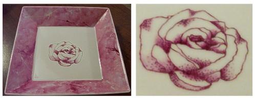 Svuotatasche effetto marmo rosa