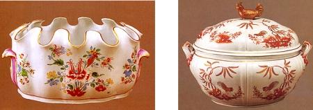Il motivo del tulipano e del galletto sulle porcellane di Doccia