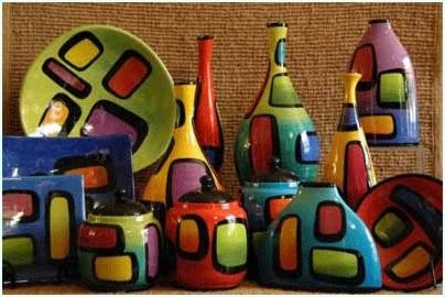 Vasellame colorato